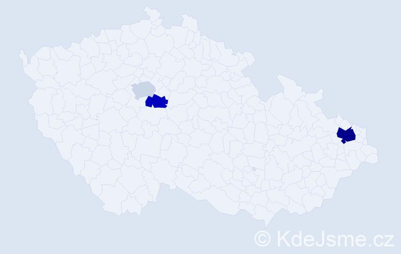 Příjmení: 'Ciferský', počet výskytů 6 v celé ČR
