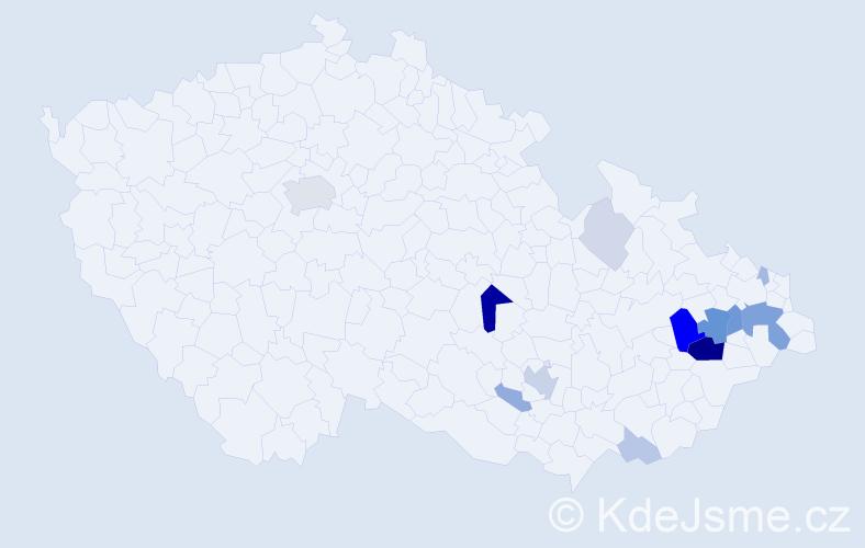 Příjmení: 'Kalich', počet výskytů 44 v celé ČR