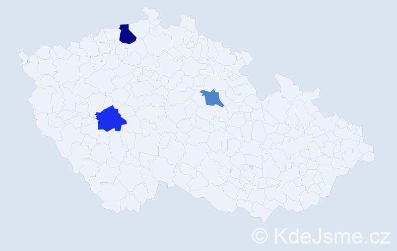 Příjmení: 'Hajdúová', počet výskytů 4 v celé ČR