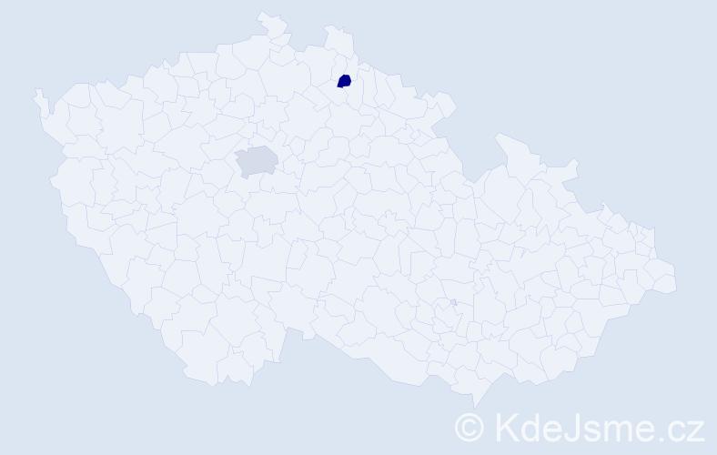Příjmení: 'Corey', počet výskytů 4 v celé ČR