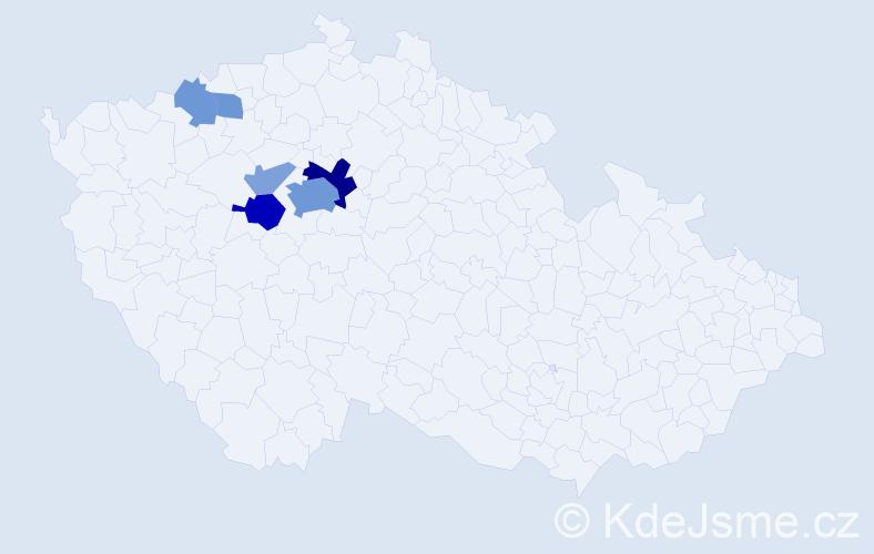 Příjmení: 'Heráček', počet výskytů 17 v celé ČR