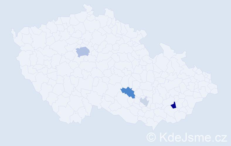 Příjmení: 'Erml', počet výskytů 9 v celé ČR