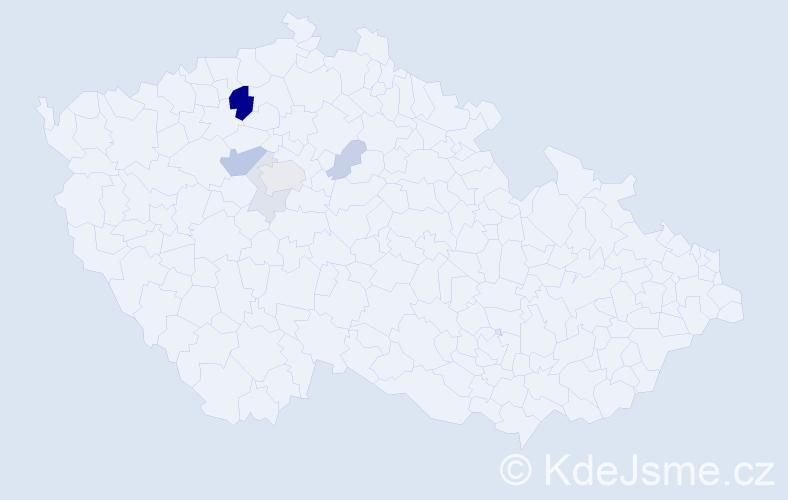Příjmení: 'Holeyšovský', počet výskytů 16 v celé ČR