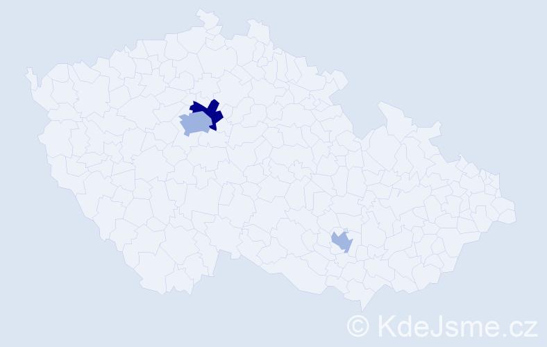 Příjmení: 'Ivašková', počet výskytů 6 v celé ČR