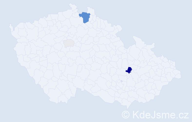 Příjmení: 'Denton', počet výskytů 6 v celé ČR