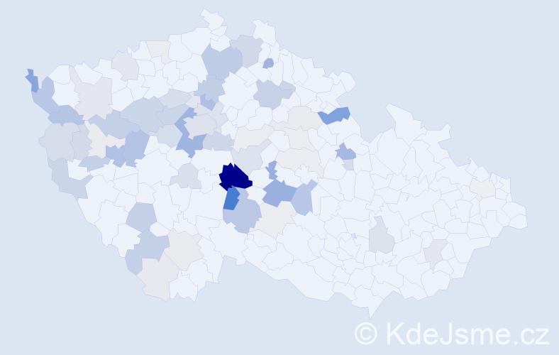 Příjmení: 'Kletečka', počet výskytů 228 v celé ČR