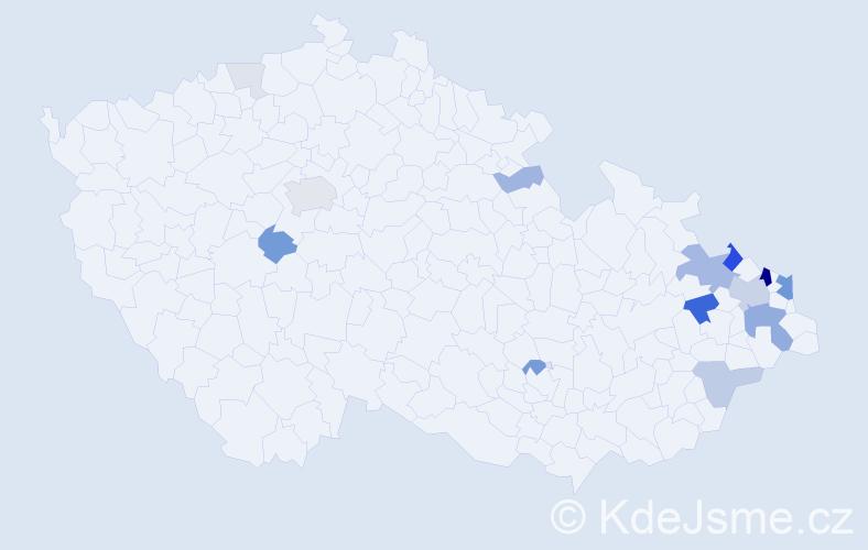 Příjmení: 'Czerná', počet výskytů 51 v celé ČR