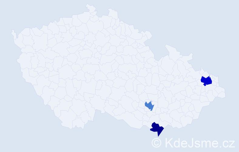 Příjmení: 'Germová', počet výskytů 6 v celé ČR