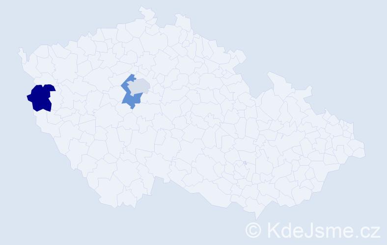 Příjmení: 'Blatnická', počet výskytů 9 v celé ČR