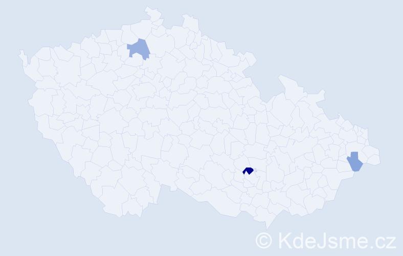 Příjmení: 'Hanafi', počet výskytů 7 v celé ČR