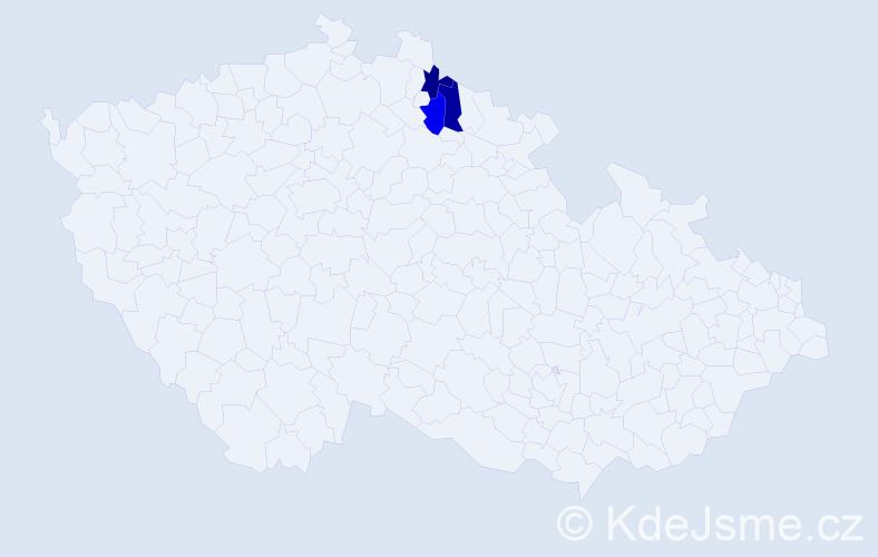 Příjmení: 'Barbušínová', počet výskytů 3 v celé ČR