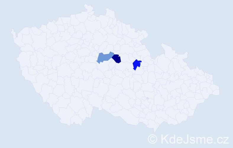 Příjmení: 'Arnož', počet výskytů 3 v celé ČR
