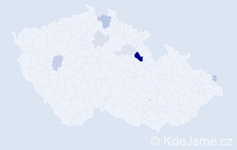 Příjmení: 'Adamčiak', počet výskytů 14 v celé ČR