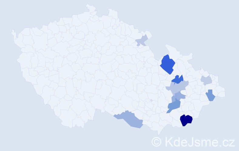 Příjmení: 'Gračka', počet výskytů 30 v celé ČR