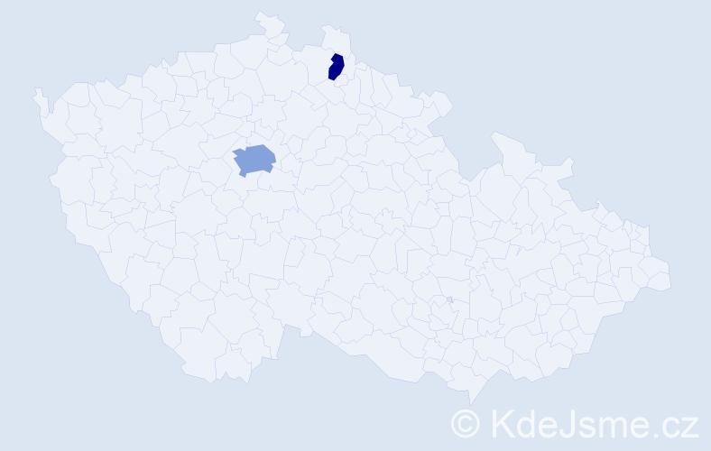 Příjmení: 'Farogová', počet výskytů 4 v celé ČR