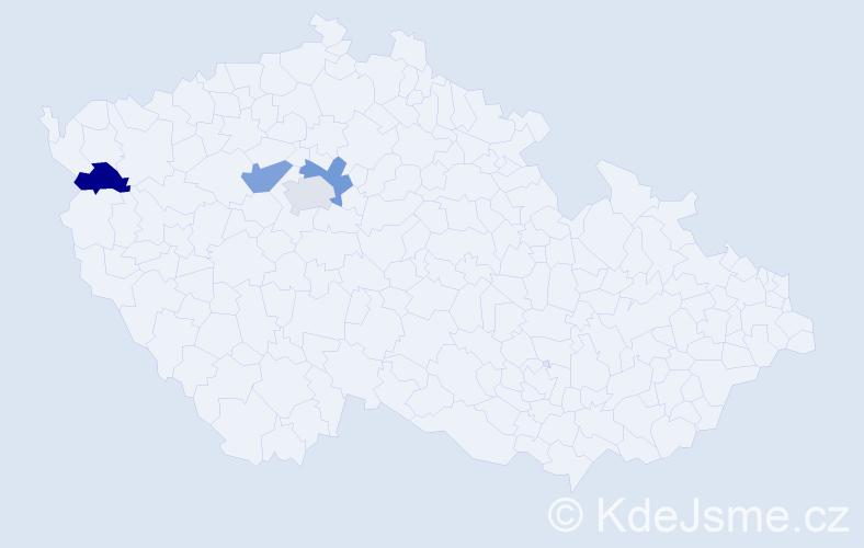Příjmení: 'Cholínská', počet výskytů 4 v celé ČR