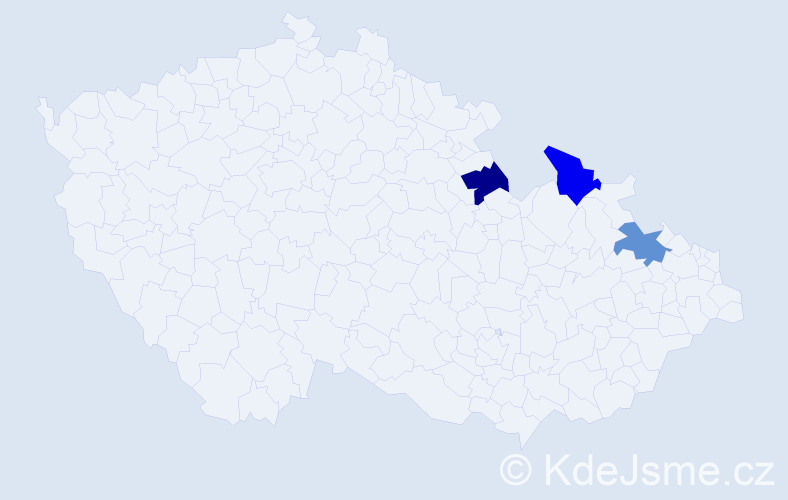 Příjmení: 'Janetzky', počet výskytů 3 v celé ČR