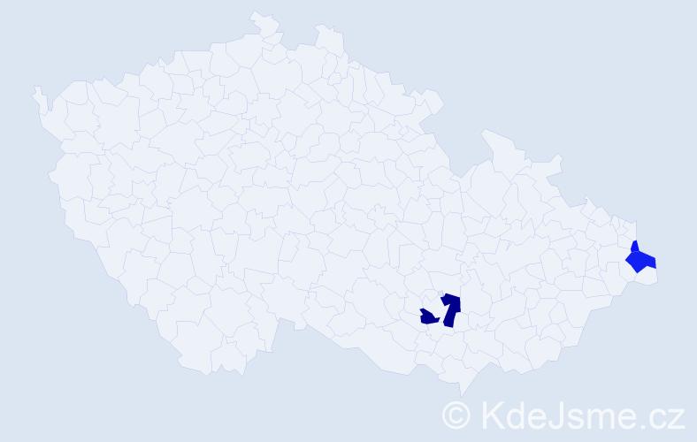 Příjmení: 'Litwora', počet výskytů 6 v celé ČR