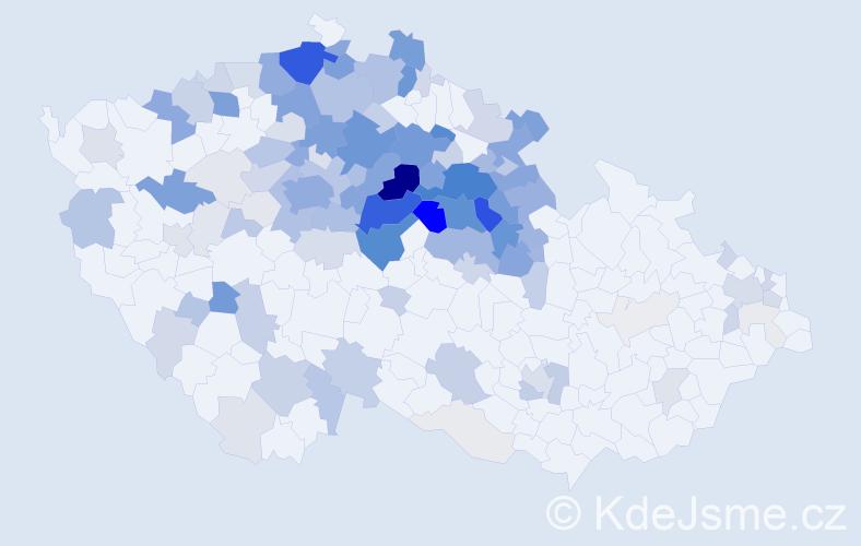 Příjmení: 'Horynová', počet výskytů 575 v celé ČR