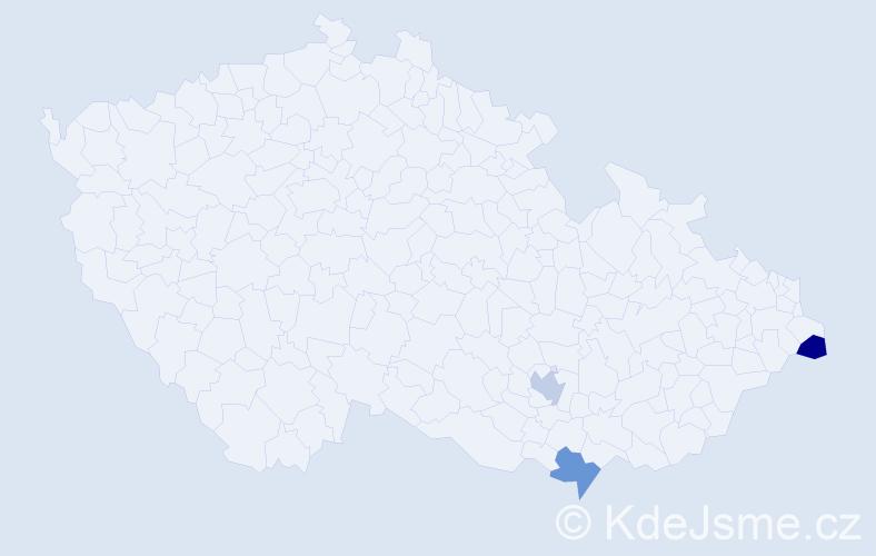 Příjmení: 'Karpissová', počet výskytů 3 v celé ČR