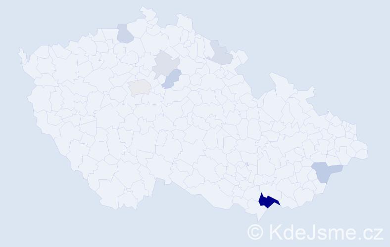 Příjmení: 'Jüstelová', počet výskytů 28 v celé ČR