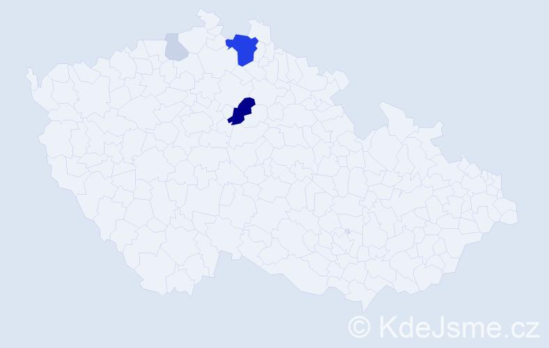 Příjmení: 'Grešulová', počet výskytů 15 v celé ČR