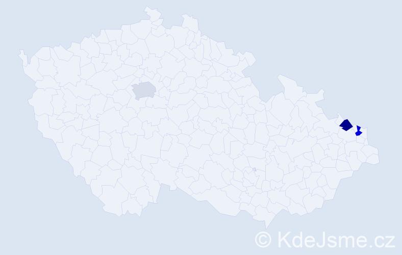 Příjmení: 'Korbelyová', počet výskytů 3 v celé ČR