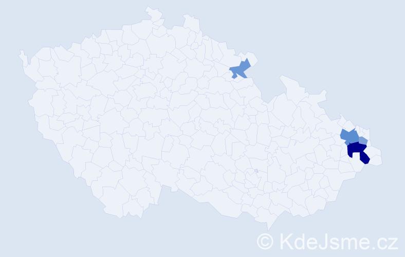 Příjmení: 'Furmančíková', počet výskytů 10 v celé ČR