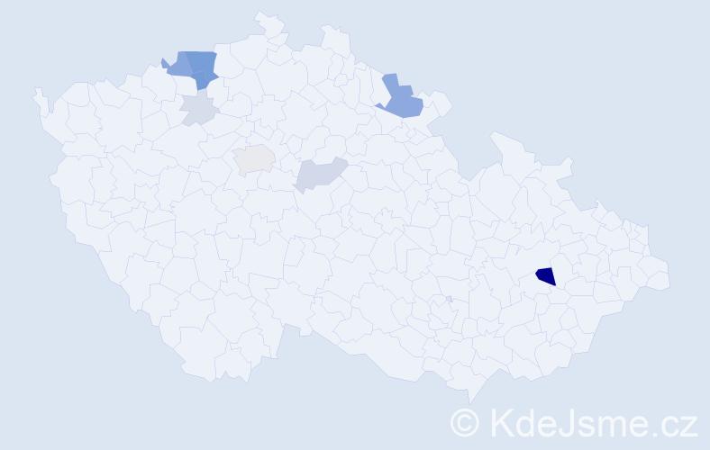 Příjmení: 'Lasík', počet výskytů 40 v celé ČR