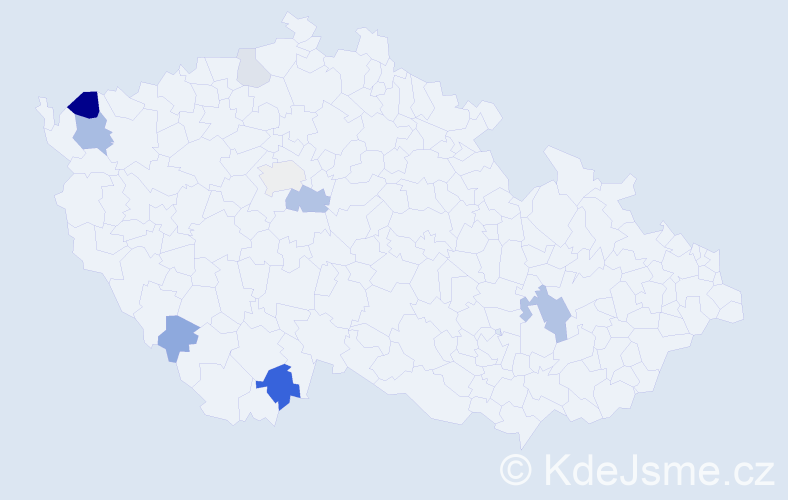 Příjmení: 'Dorschner', počet výskytů 18 v celé ČR