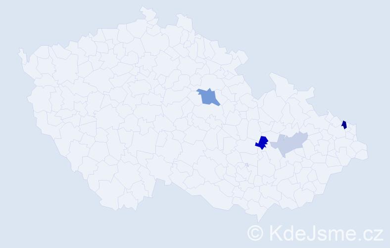 Příjmení: 'Hlásnik', počet výskytů 8 v celé ČR