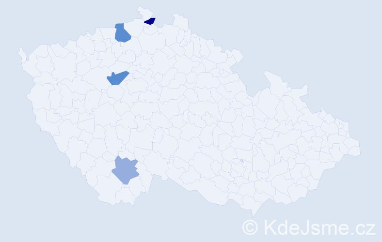 Příjmení: 'Gajdoščáková', počet výskytů 6 v celé ČR