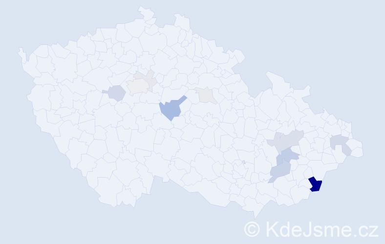 Příjmení: 'Ginterová', počet výskytů 36 v celé ČR