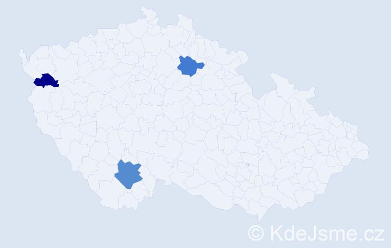 Příjmení: 'Badzo', počet výskytů 8 v celé ČR