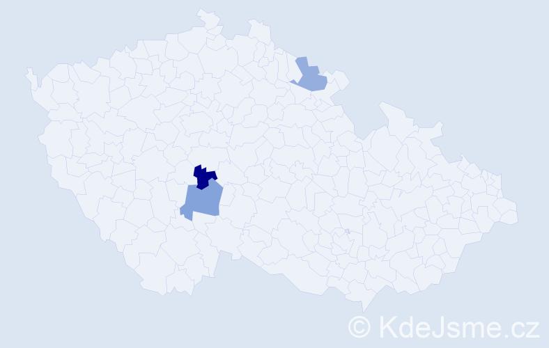 Příjmení: 'Buryanková', počet výskytů 7 v celé ČR