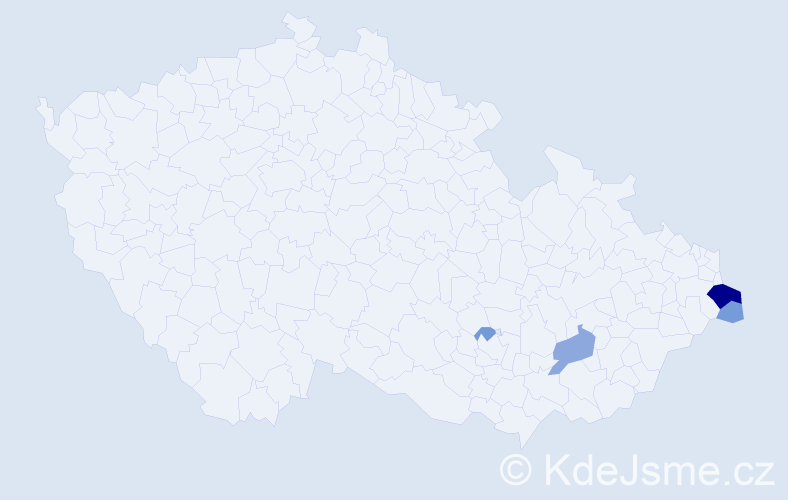 Příjmení: 'Buzáš', počet výskytů 12 v celé ČR
