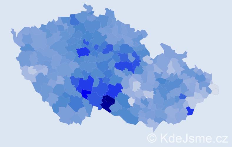 Příjmení: 'Nováková', počet výskytů 35529 v celé ČR