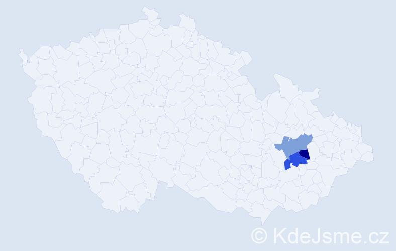 Příjmení: 'Caruzzi', počet výskytů 6 v celé ČR