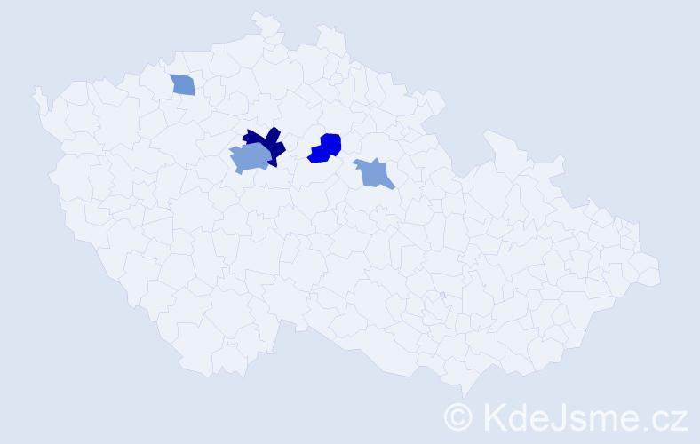 Příjmení: 'Gatyášová', počet výskytů 13 v celé ČR