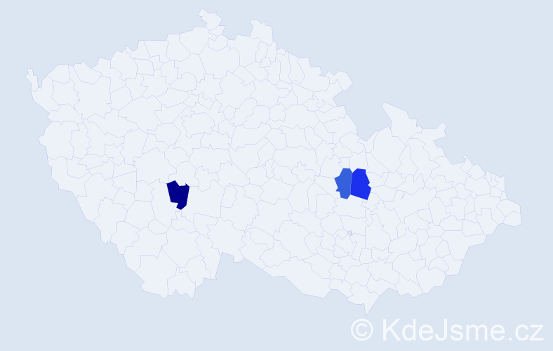 Příjmení: 'Jakimjuková', počet výskytů 3 v celé ČR