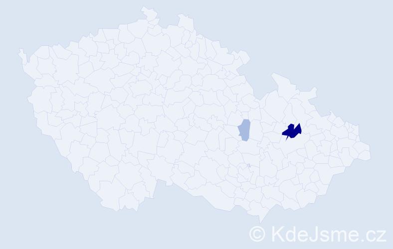 Příjmení: 'Ďuriančík', počet výskytů 6 v celé ČR