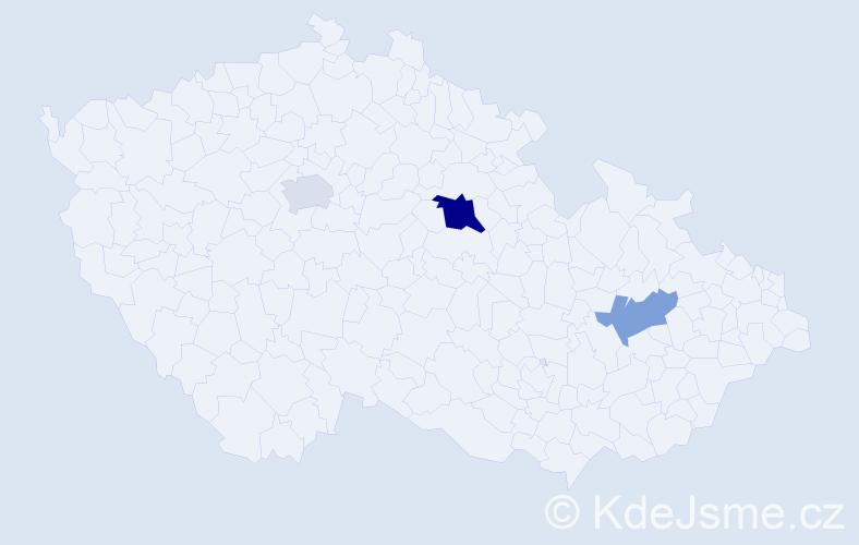 Příjmení: 'Isakova', počet výskytů 5 v celé ČR