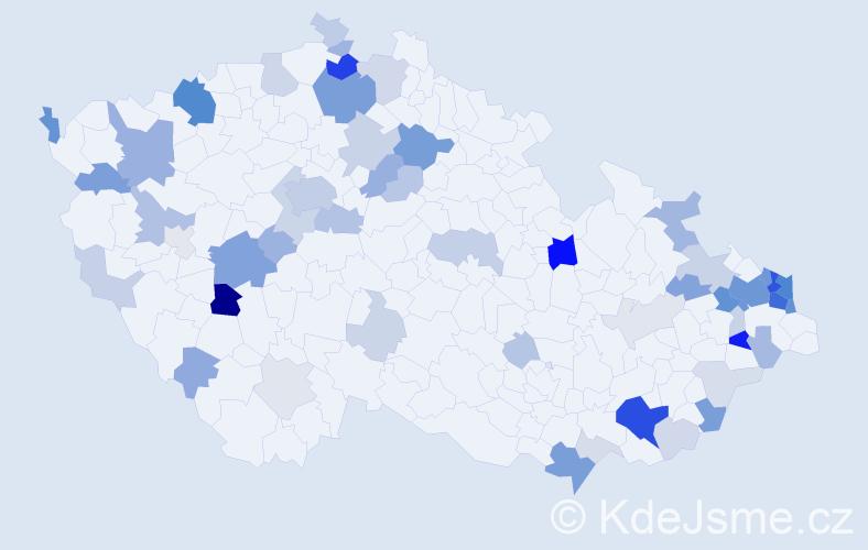 Příjmení: 'Jančarová', počet výskytů 188 v celé ČR