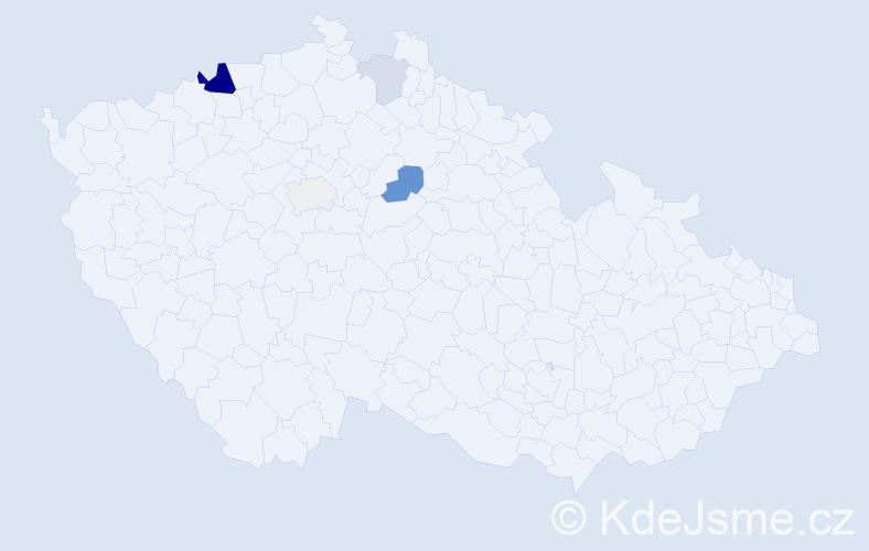 Příjmení: 'Križanovič', počet výskytů 11 v celé ČR