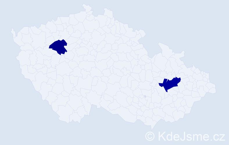 Příjmení: 'Czibor', počet výskytů 3 v celé ČR