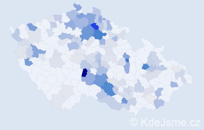 Příjmení: 'Kunst', počet výskytů 437 v celé ČR