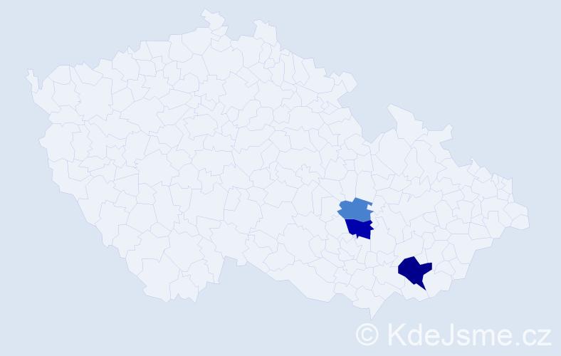 Příjmení: 'Gilk', počet výskytů 6 v celé ČR