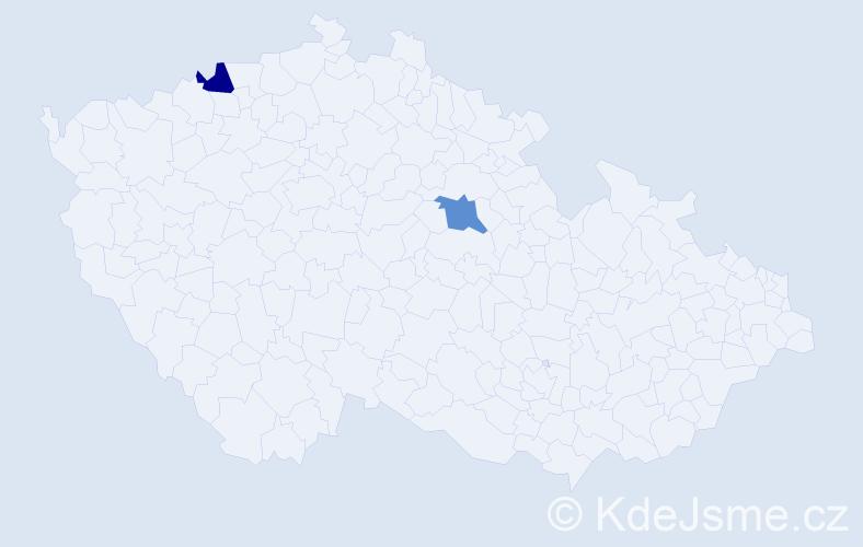 Příjmení: 'Angelkovová', počet výskytů 2 v celé ČR