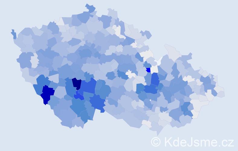 Příjmení: 'Kolář', počet výskytů 8365 v celé ČR