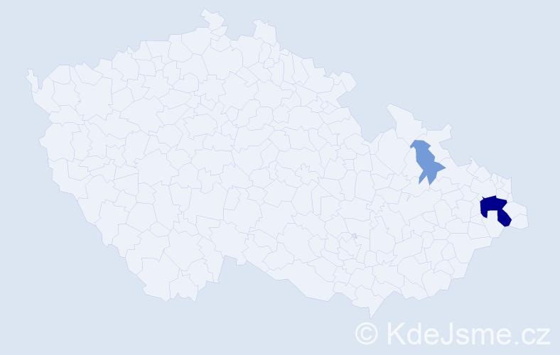 Příjmení: 'Kopidol', počet výskytů 8 v celé ČR